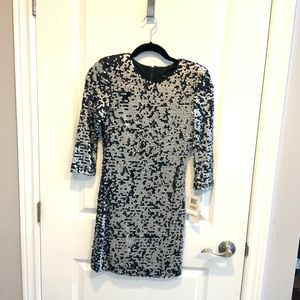 NWT French Connection Full Sleeve Sequin Dress